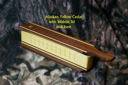 Alaskian Yellow Cedar body/Walnut lid and base